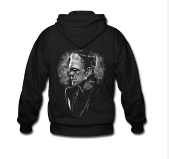 Frankenstein Monster Zippered Hoodie
