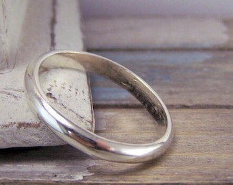 Simple Wedding Band - Sterling Silver Ring Band - Wedding Jewelry - Bridal Jewelry