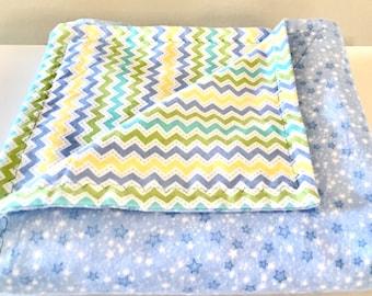 Reversible Flannel Receiving Blanket