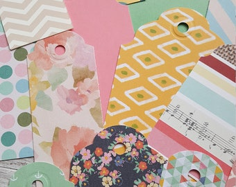 Assorted Random Tags // Favor Tags // Gift Tags // Paper Tags