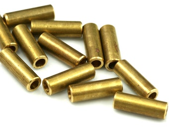 70 Pcs Raw Brass Tube 15 x 5 mm (hole 3.8 mm) industrial brass Charms,Pendant,Findings spacer bead