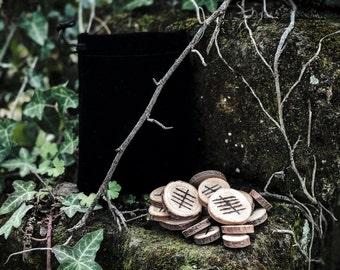 Ogham Runes, Ogham Set, Celtic Ogham, Ogham Wood Rune Set, Hand Burned, Handmade Wooden Runes, Divination, Druidry, Druid, Witchcraft, Pagan