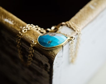 Boho Turquoise Choker Bracelet Or Necklace | Choker Minimalist Boho | Simple Choker Gold Teardrop Turquoise Sleeping Beauty Bohemian