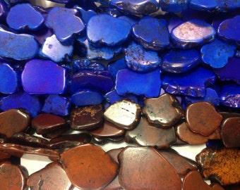 Magnesite Turquoise slab, dark blue, or brown