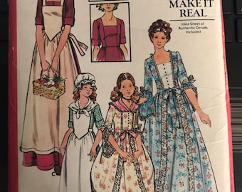 Vintage 70s Butterick 4260 Dolly Madison Costume Pattern-Size 14(36-28-38)