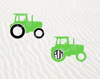 Tractor Svg File, Tractor Monogram SVG, Farm SVG, Vehicle Cutting File, Tractor DXF, Digital File, Silhouette Transport, Tractor Cricut