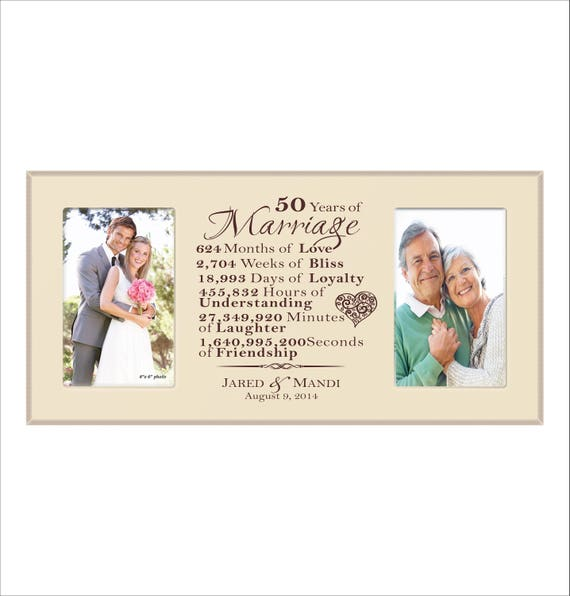50th anniversary frame personalized 50th anniversary 50