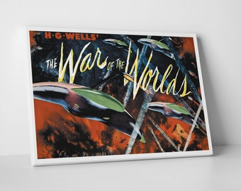 The War of the Worlds Gallery Wrapped Canvas Print