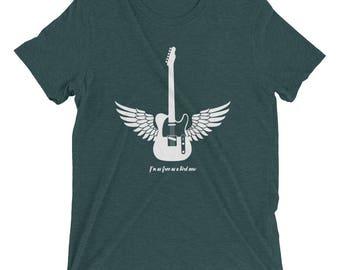 Im as free as a bird now t shirt! Freebird, Classic Rock, Southern Rock, Lynyrd Skynyrd, Guitar, Wings, fyling guitar, telecaster, 70's
