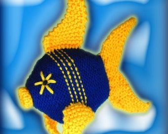 Knit Fish Plush Toy Pattern PDF Digital Download