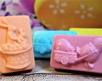 Easter Bunny Soap, Easter Chick Favor Soap, Easter Soap, Easter Gift, Easter Favors, Easter Party Favors, Bunny Soap, Easter Egg Favor Soap