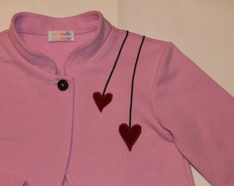 Jacket for girls from 2 to 7 years old