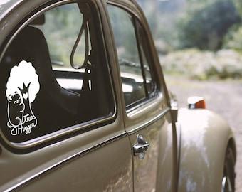 Kawaii Tree Hugger Bear Nugget Vinyl Decal
