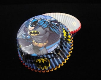 Batman Cupcake Liners, Super Hero Party, Kids Parties, Superheros Party, Batman Party, Baking Cups, Muffin Papers, Cupcake Liners - Qty 25