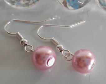 Wedding Pearl Earrings old rose