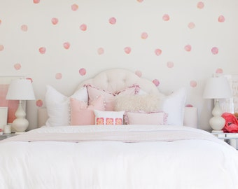 Vinyl Wall Sticker Decal Art - Watercolor Polka Dots