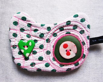 Mini-Pochette cat.  cotton has green weight