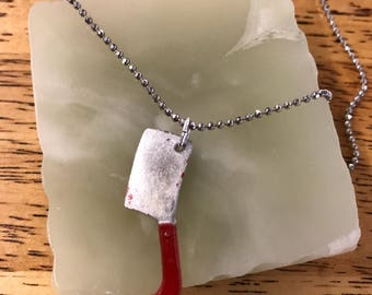 "Baby Meat Cleaver / Adjustable ""Chop Chop"" Necklace"