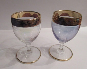 Shot glasses 2x Golden rim.
