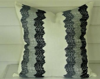 Wavy Stitch Embroidered Pillow Cover