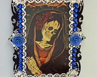 Day Of The Dead Art, Collectibles, Mixed Media And Collage, Madre Dolorosa, Table Top, Assemblage Art, Dia De Los Muertos Art, Mini Shrines