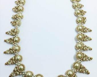 Alexa Necklace:  So elegant!  Swarovski pearls and crystals, and Czech beads.  18.5 inches.