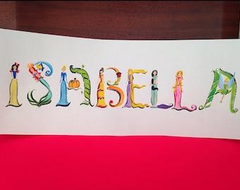 Princess name painting