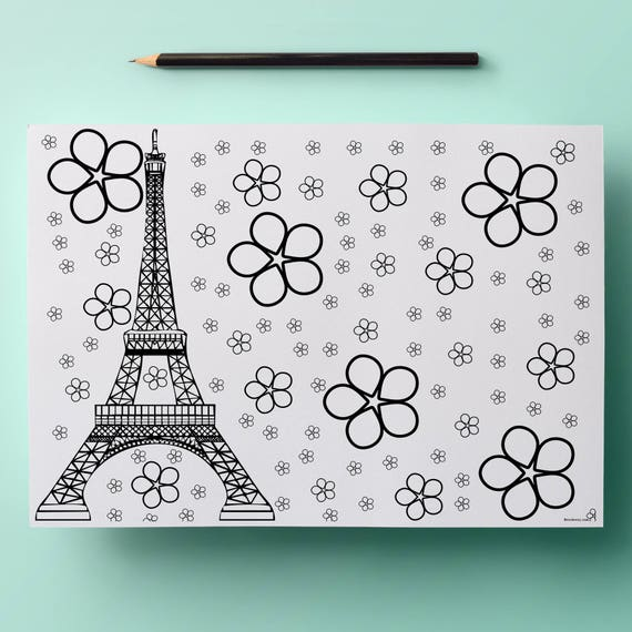 paris coloring page eiffel tower coloring pages coloriage
