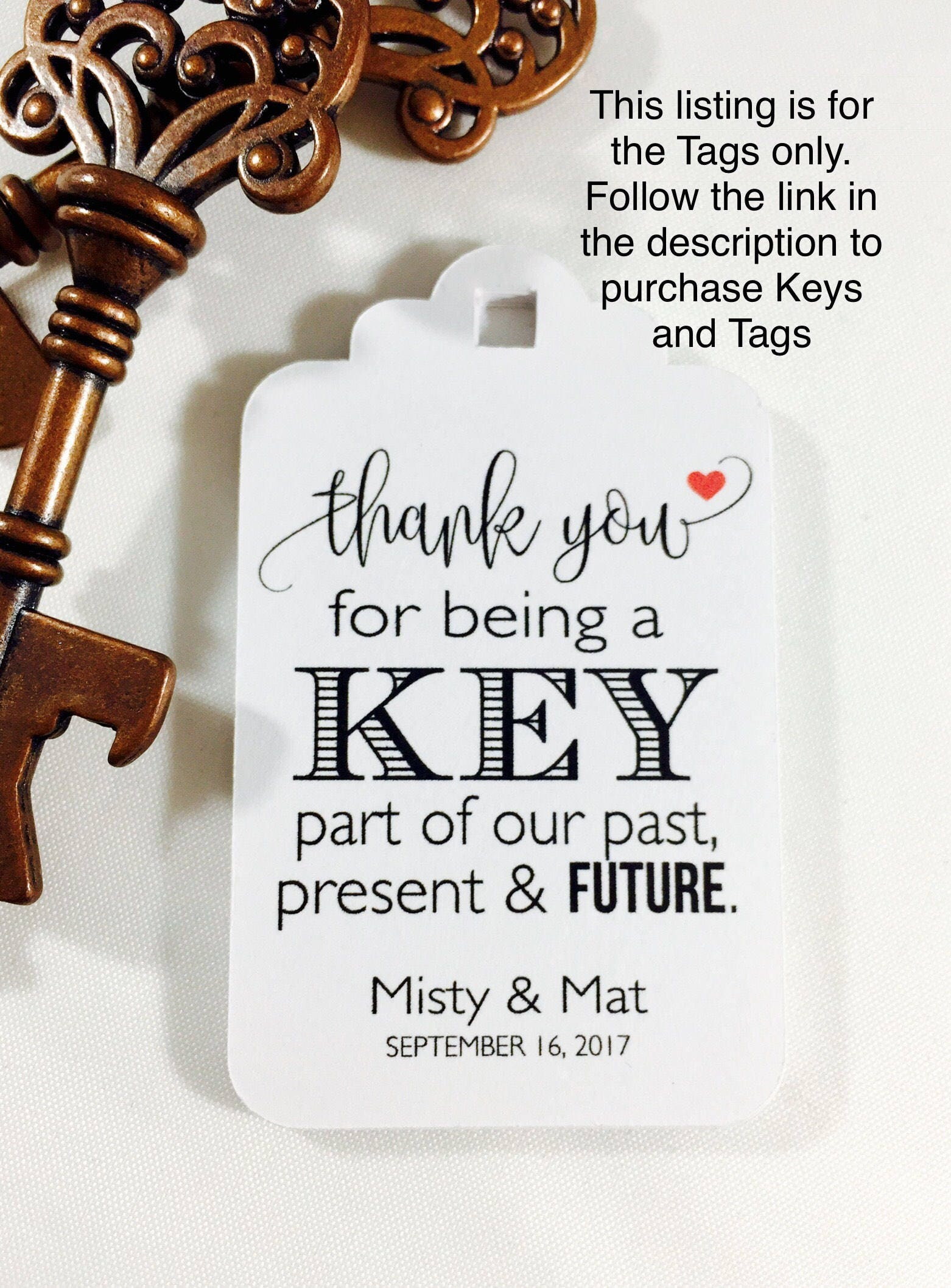 Wedding Favor Tags, Antique Key Favor Tags, Key Bottle Opener Tags ...