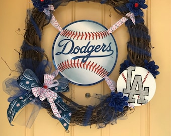 Los Ángeles Dodgers Wreath