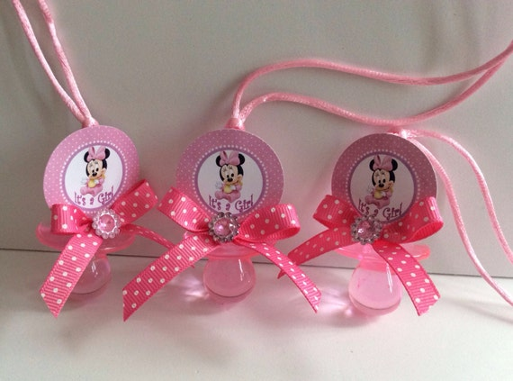 Baby Shower Favors Pacifiers ~ Minnie mouse baby shower pacifiers minnie mouse baby shower