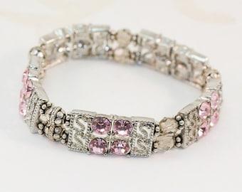 Blush Pink Stretch Bracelet