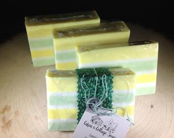 Lemongrass Green Tea soap, glycerin soap, shea butter soap, handmade natural soap, homemade vegan soap, detergent & paraben free, soap bars