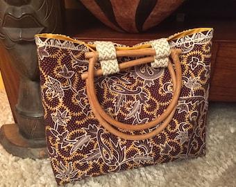 tote bag made from Batik fabric