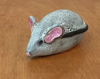 Pottery Art - Little Critter Grey Mouse
