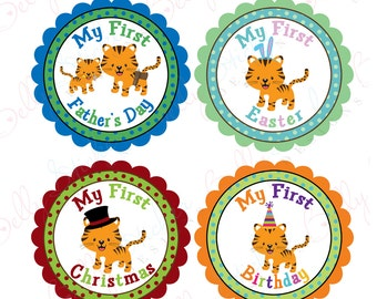 Tiger Babies First Holidays Scalloped