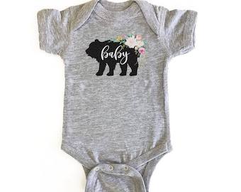 Rustic Baby Shower Bodysuit - 3-6 Months, Baby Clothing, Baby Shower, Onsie