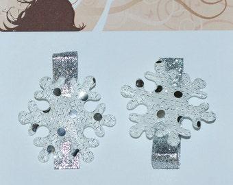 Frozen Inspired Elsa Snowflake Hair Clips - Buy 3 Items, Get 1 Free
