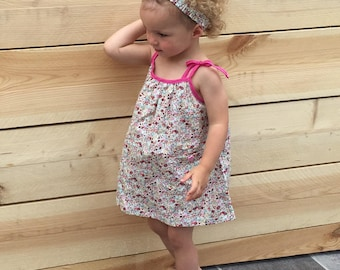 18 months to 2 years floral liberty spirit girl dress