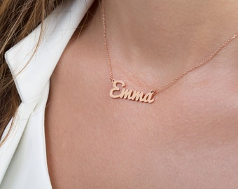 Dainty name necklace,  Solid gold nameplate,  Name necklace,  Personalised name necklace, Custom necklace,  Any name necklace