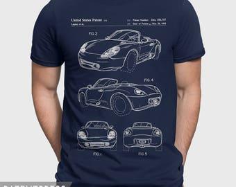 Porsche Boxter Gift For Him, Porsche T-Shirt Gift For Husband, Porsche Boxster Cayman Mens Gift Idea, Car Shirt For Classic Car Lover P152