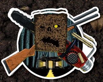 Evil Dead Sticker (horror stickers Halloween decal phantasm hellraiser friday the 13th texas chainsaw massacre nightmare on elm street)