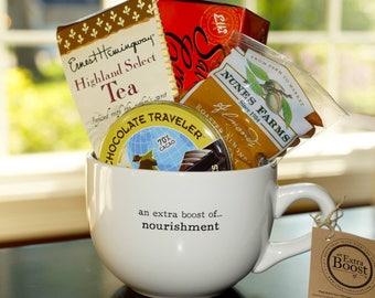 Gift Basket Mug {an extra boost of...nourishment, comfort, xoxo and/or indulgence}