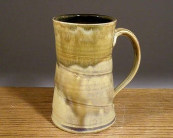 Stoneware, Handmade, 16oz, Pottery Mug, Coffee Mug, Beer Mug , Tea Cup. Great Beer or Coffee Lovers Gift !