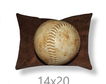 Softball Pillow Cover-Sports Pillow Cover-14x20 Pillow Cover-Square Pillow-14x14/16x16/18x18/20x20/26x26-Softball Decor-Girls Room Decor