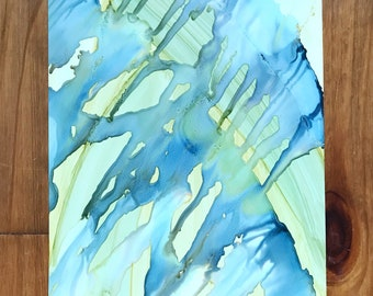 """Abstract Painting/ Original Art Work/ Ink Painting/ 8""""x 10"""" Painting"""