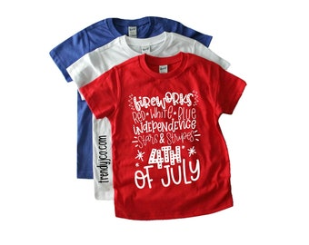 Kids - 4th Of July - Shirt - Fourth Of July - Tshirt - Graphic Tee - Patriotic - Unisex - Toddler - Matching - Boys - Girls - Baby