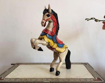 Circus horse, mexican art folk.
