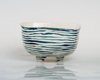 WAVE - Porcelain bowl, unique, handmade, OOAK