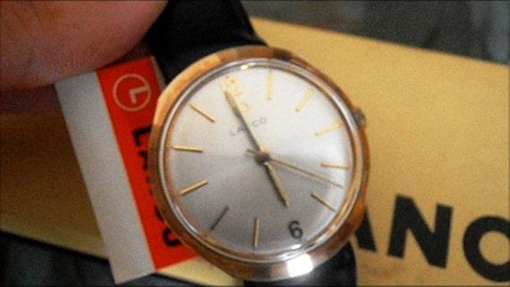 Vintage  Swiss watch - Lanco 5457 17j NIB with tags men's wristwatch